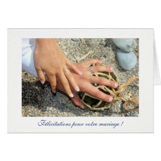 Deseos de matrimonio alianzas mar gama enarenan tarjeta pequeña