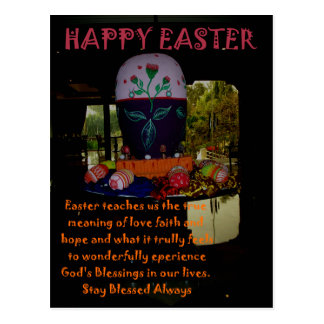 Deseos de Pascua de la esperanza de la fe del amor Postal