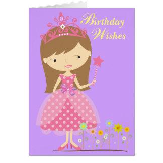 Deseos del cumpleaños cabidos para una princesa tarjeta de felicitación