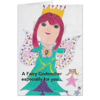 Deseos del cumpleaños de la hada madrina tarjeta pequeña