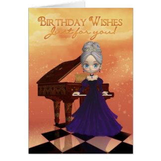 Deseos del cumpleaños de la tarjeta de felicitació