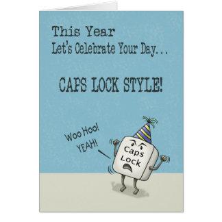 Deseos del cumpleaños, estilo de la cerradura de tarjeta de felicitación