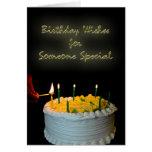 Deseos del cumpleaños para alguien especial tarjeton