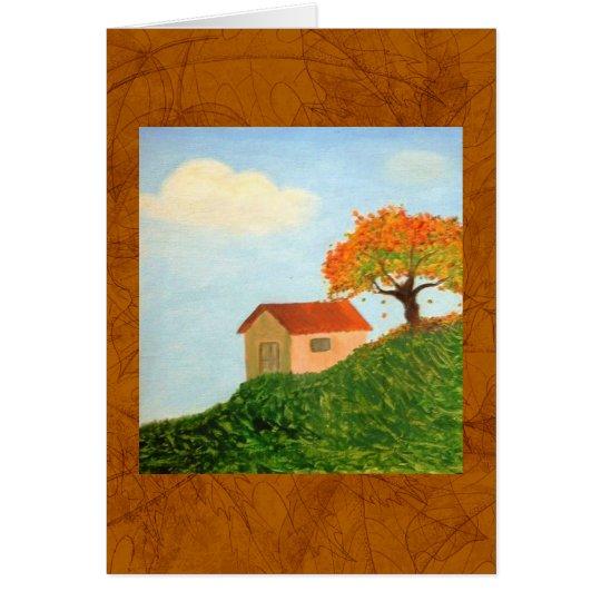 Deseos del hogar. tarjeta de felicitación