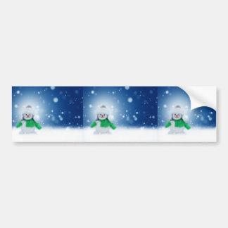 Deseos del muñeco de nieve pegatina para coche