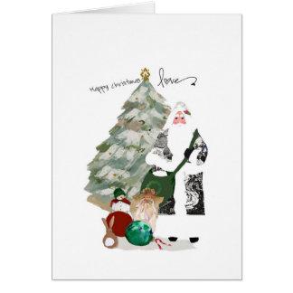 Deseos del navidad del padre usted amor del tarjeta de felicitación