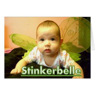 ¡deseos del stinkerbelle para los nuevos padres! tarjeta de felicitación