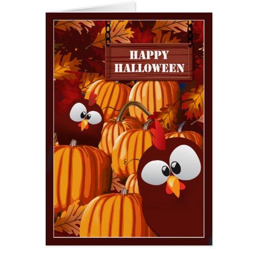 Deseos divertidos de Halloween del remiendo de la  Tarjetas
