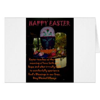 Deseos felices de la fe y de la esperanza del amor tarjeta de felicitación