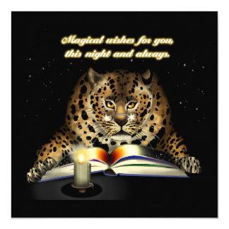 Deseos mágicos del leopardo Mage Invitación 13,3 Cm X 13,3cm