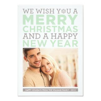 Deseos modernos del navidad de la tarjeta el | de invitación 12,7 x 17,8 cm