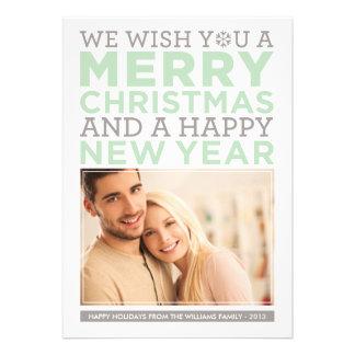 Deseos modernos del navidad de la tarjeta el de anuncios