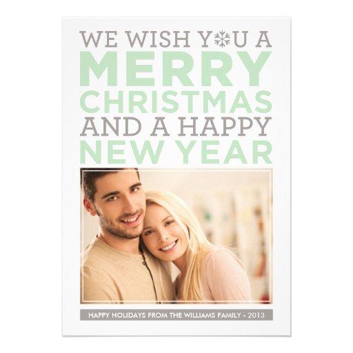 Deseos modernos del navidad de la tarjeta el | de anuncios