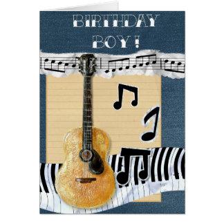 Deseos musicales tarjeta de felicitación
