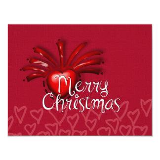 Deseos preciosos del navidad invitación 10,8 x 13,9 cm