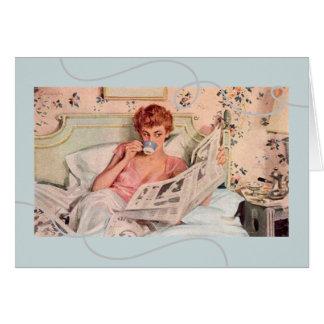 deseos Vintage-Inspirados los años 50 del Tarjeta De Felicitación