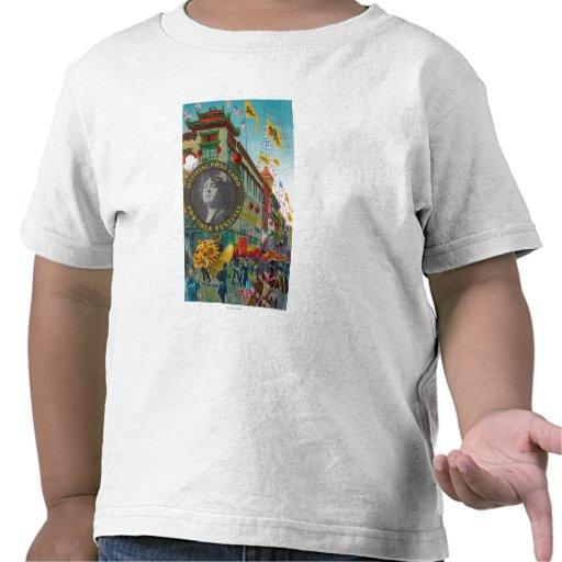 Desfile de Chinatown para el festival de Portola Camisetas