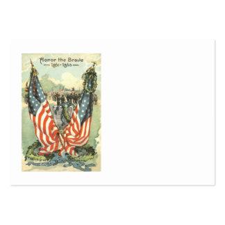 Desfile de la guerra civil de la piedra sepulcral  tarjeta de visita