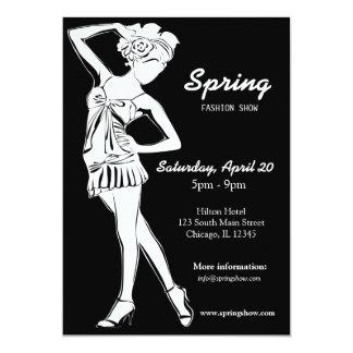 Desfile de moda (blanco) invitación
