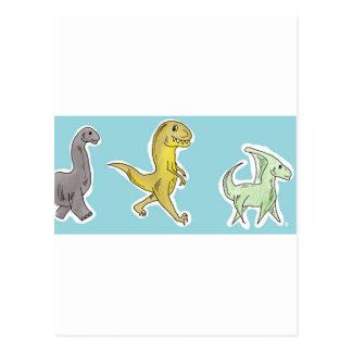 Desfile del dinosaurio tarjeta postal