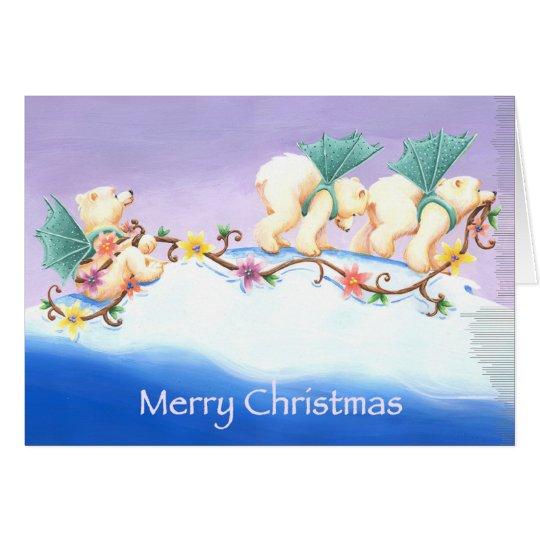 Desfile del oso polar tarjeta de felicitación