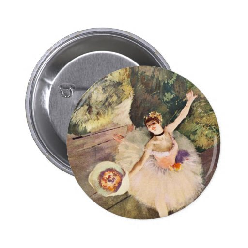 Desgasifique a la bailarina con un ramo de botón d pins