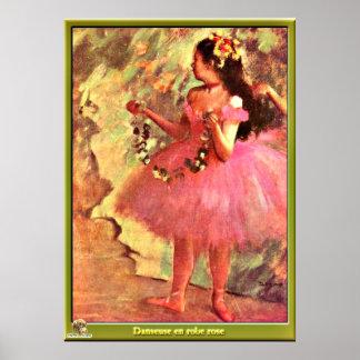 Desgasifique - al bailarín en Dress-1880 rosado Póster