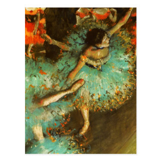 Desgasifique al impresionista verde del ballet del postal