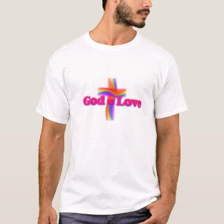 Desgaste del logotipo de God=Love Camiseta