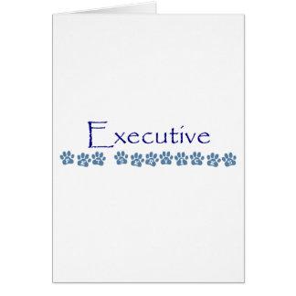 Desgaste ejecutivo de la marca de los servicios de tarjeta de felicitación