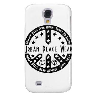 Desgaste urbano de la paz funda para galaxy s4