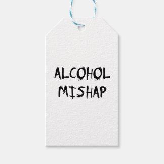Desgracia del alcohol etiquetas para regalos