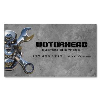 Desguace de la motocicleta del cráneo de la tarjetas de visita magnéticas (paquete de 25)