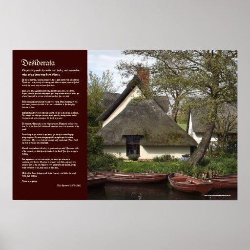 Desiderátums - cabaña cubierta con paja de Willy L Posters