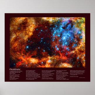 Desiderátums - cuarto de niños estelar en nebulosa impresiones