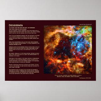 Desiderátums - cuarto de niños estelar en nebulosa posters