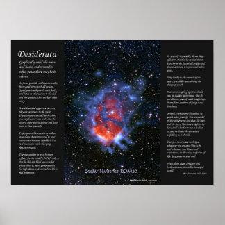 Desiderátums - cuartos de niños estelares RCW120 Posters