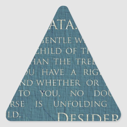 Desiderátums en lona calcomanías de triangulos personalizadas