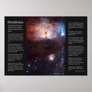Desiderátums - fuegos ocultados de la nebulosa de  posters