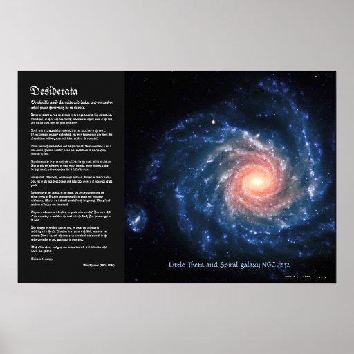 Desiderátums, galaxia espiral NGC1232 y poca theta Poster