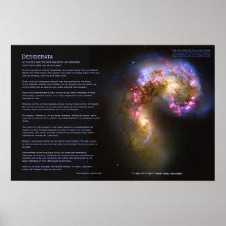 Desiderátums - las galaxias de las antenas posters