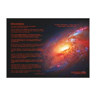 Desiderátums, M106 galaxia espiral, bastones Lona Envuelta Para Galerías
