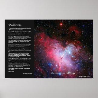 Desiderátums - nebulosa de Eagle 16 más sucios N Posters