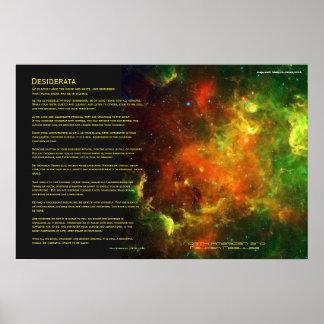 Desiderátums - nebulosas de norteamericano y del p poster