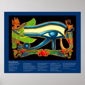 Desiderátums - ojo de Horus Posters