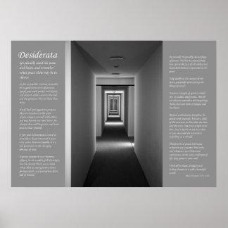 Desiderátums - pasillo del retroceso póster
