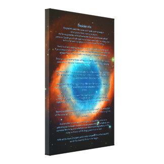 Desiderátums poema, nebulosa de la hélice, galaxia impresión en lona estirada