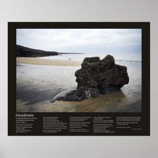 Desiderátums - roca de la playa posters