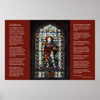 Desiderátums, San Jorge, vitral del dragón Posters