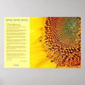 Desiderátums - semillas de girasol de oro impresiones